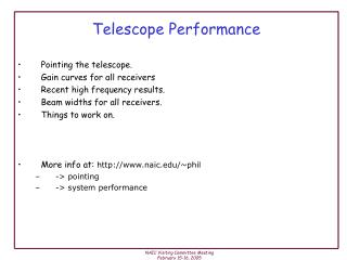 Telescope Performance