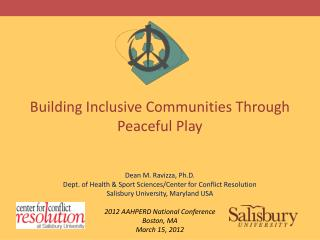 Building Inclusive Communities Through Peaceful Play