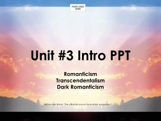 Unit #3 Intro PPT