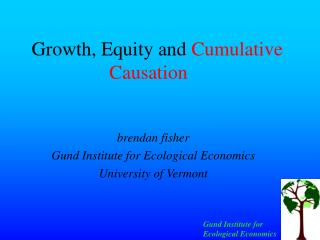 Growth, Equity and  Cumulative Causation