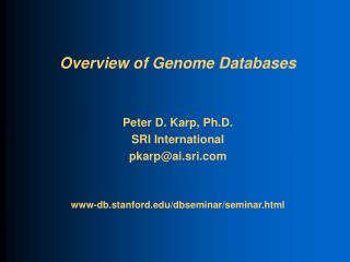Overview of Genome Databases