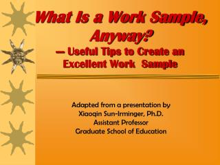 What Is a Work Sample, Anyway? --- Useful Tips to Create an  Excellent Work  Sample