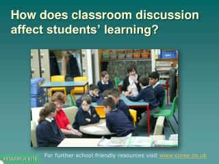 How does classroom discussion affect students' learning?