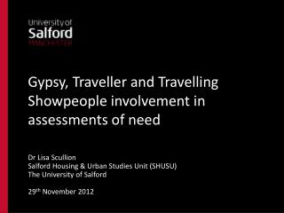 Gypsy, Traveller and Travelling Showpeople involvement in assessments of need