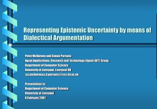 Representing Epistemic Uncertainty by means of Dialectical Argumentation