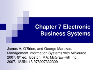 Chapter 7 Business Process Management