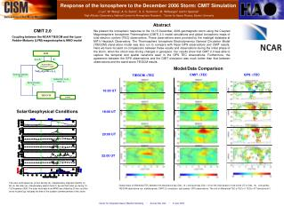 Response of the Ionosphere to the December 2006 Storm: CMIT Simulation