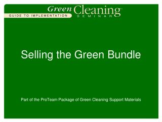 Selling the Green Bundle