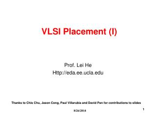 VLSI Placement (I)