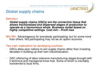 Global supply chains