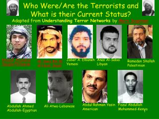 Who Were/Are the Terrorists and What is their Current Status?