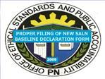 PROPER FILING OF NEW SALN BASELINE DECLARATION FORM
