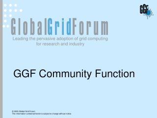 GGF Community Function