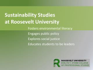 Sustainability Studies     at Roosevelt University