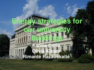 Energy strategies for our university buildings