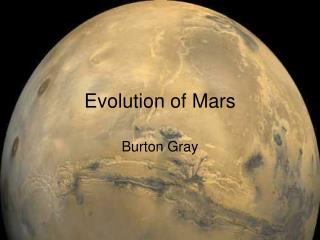 Evolution of Mars