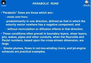 PARABOLIC RUNS