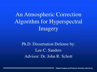 An Atmospheric Correction Algorithm for Hyperspectral Imagery
