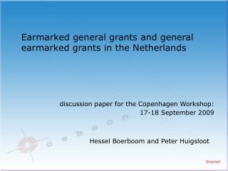 Earmarked general grants and general earmarked grants in the Netherlands
