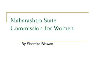 Maharashtra State Commission for Women