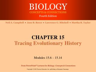 CHAPTER 15 Tracing Evolutionary History