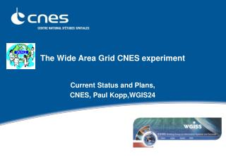 The Wide Area Grid CNES experiment