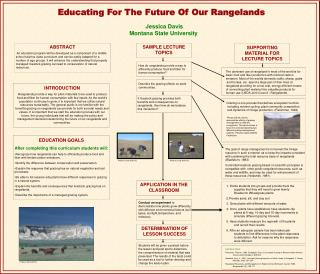 Educating For The Future Of Our Rangelands