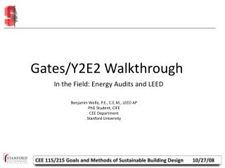 Gates/Y2E2 Walkthrough