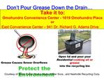 Don t Pour Grease Down the Drain
