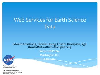 Web Services for Earth Science Data