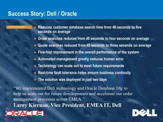 Success Story: Dell / Oracle