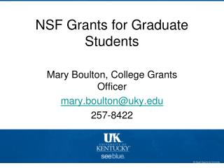 NSF Grants for Graduate Students