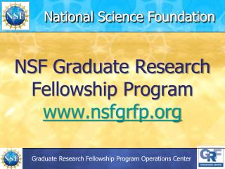 NSF Graduate Research Fellowship Program nsfgrfp