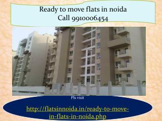 ready tro move flats in noida 9910006454