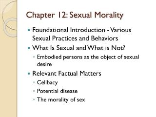 Chapter 12: Sexual Morality