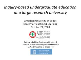 Inquiry-based undergraduate education at a large research university