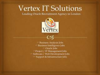 Oracle Jobs Vertex
