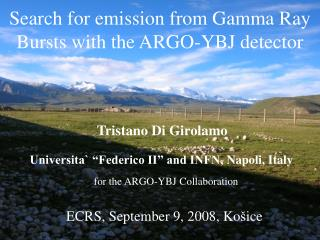 Searc h  for emission from G amma  R ay  B urst s with the ARGO-YBJ detector