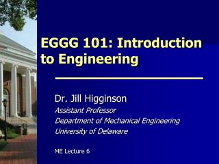 EGGG 101: Introduction to Engineering