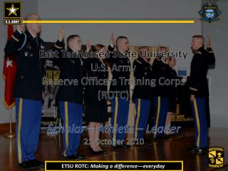 ETSU ROTC:  Making a difference—everyday .