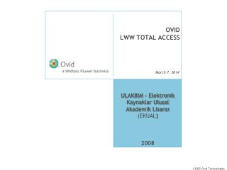 OVID  LWW TOTAL ACCESS