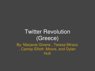 Twitter Revolution (Greece)