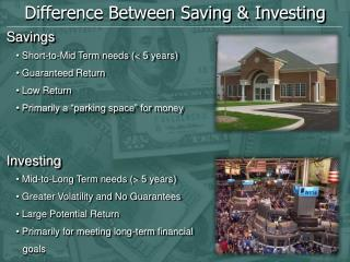Difference Between Saving & Investing