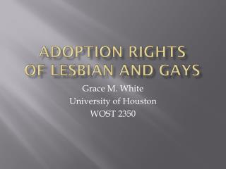 Adoption Rights of Lesbian and Gays