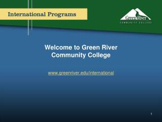 Welcome to Green River  Community College