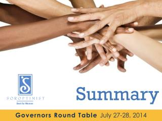 Governors Round Table  July 27-28, 2014