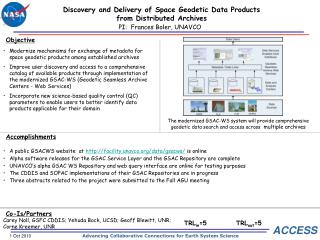 Discovery and Delivery of Space Geodetic Data Products from Distributed Archives
