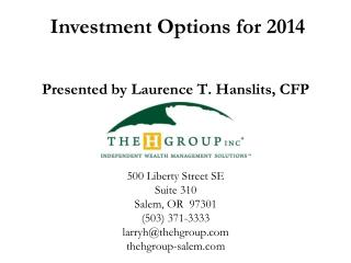 Investment Options for 2014