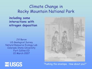 Climate Change in  Rocky Mountain National Park