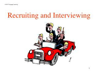 Recruiting and Interviewing